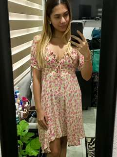 "REPRICED!! ""Just Cavalli"" floral flowy boho dress"
