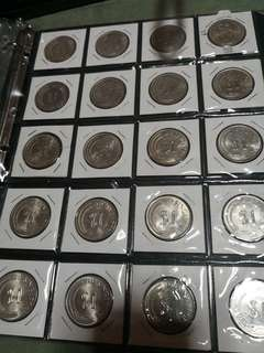Singapore $1 Merlion coins