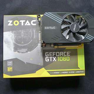Lightly used Zotac GTX 1060 Mini 6GB with local warranty