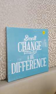 #single11 Small Change make Big Difference Canvas