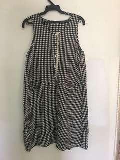 🚚 經典格紋洋裝