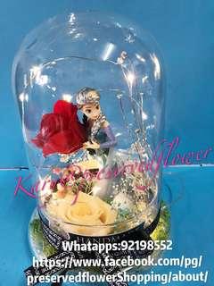 Diy手作永生花🌹(保鮮花)玻璃擺設座及鎖匙扣掛飾