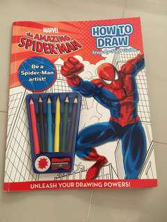 Marvel the amazing Spider-Man how to draw step by step