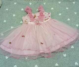 Dress anak pink / rok terusan pink