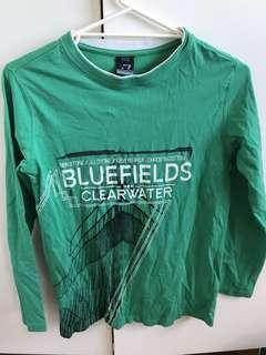 Dognose green long sleeve shirt top