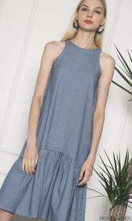 Hollyhoque Damien Peplum Midi Dress