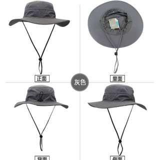 Brand New Unisex Grey Trekking Hat