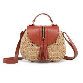 Tassel Rattan Straw Bag