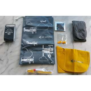 Brand New Air Astana Amenity Kit Bag