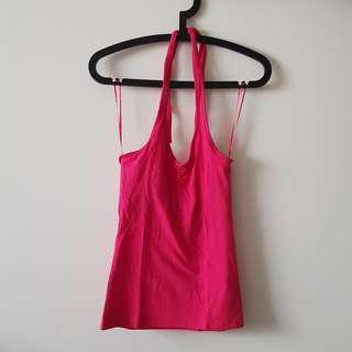 E-vie Bright Pink Halter Top