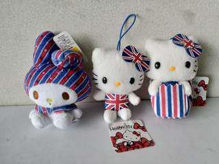 2012 Sanrio Hello Kitty & My Melody 三款英倫風日本限定景品