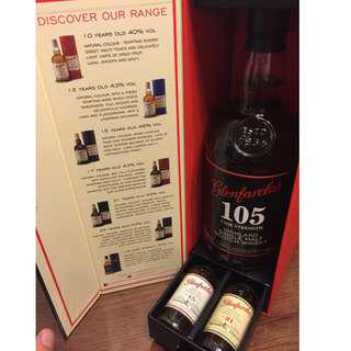 Glenfarclas 105 (8年) Gift Pack with 2 Mini 15YO & 21YO