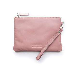 Stitch & Hide Blush bag with wristlet genuine leather