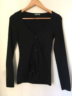 Kookai black cardigan size 1