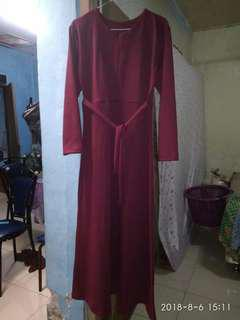 Gamis wafle polos