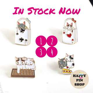[IN STOCK] Playful Cats Series Enamel Pins