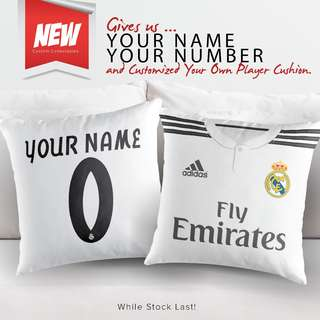 CUSTOMIZED REAL MADRID DECORATIVE PILLOW – HOME KIT DESIGN