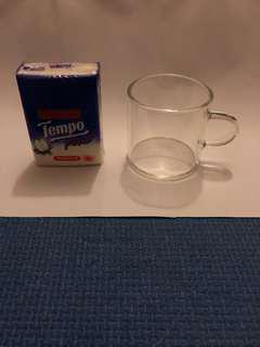 全新4隻 - 迷你 透明 咖啡杯 玻璃杯 mini glass coffee cup - 實物圖
