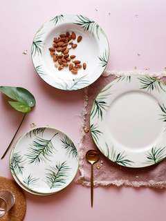 Ins Nordic Palm Leaves Tableware
