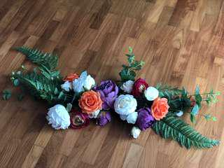 Ektory - Table Floral Arrangement (Real Silk Touch Flowers)