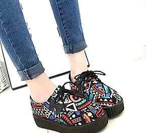 Plus Size Platform Sneakers
