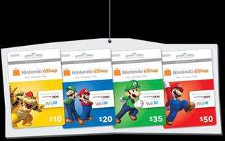 Nintendo USA eShop Prepaid Cards