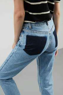 Callasa Patches Pocket Denim Blue