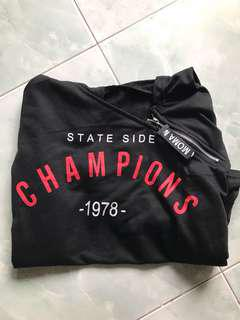 champions cropped hoodie