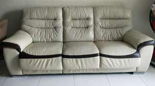 3-Seater Soft Leather Sofa (DONATED)