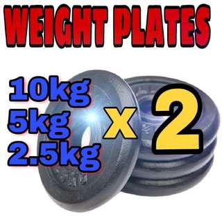 Weight Plate (10kg/5kg/2.5kg) x2