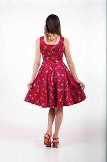 Elise Design Red Floral Dress