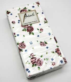 Ambiente® Pocket Tissues Rosalle White