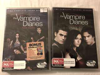 Season 2 & 3 of The Vampire Diaries DVD set