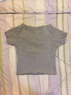 BRAND NEW Shop Copper Grey Crop Top Shirt