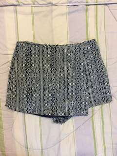 Zalora Patterned Skort with Invisible Zipper