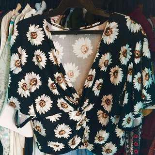 Daisy wrap blouse