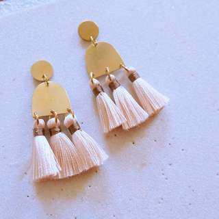 🚚 Maya Tassel Earrings - Champagne - 10% off sale