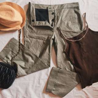 BUNDLE SALE🌼 HW trousers plus sando brown