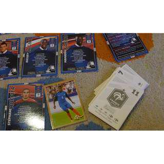 Official Les Bleus Collectible Panini Stickers (Russia 2018) and playing cards (Brazil 2014)