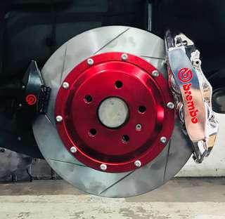 First in the World Brembo Electronic Parking Brake Integration without wires cutting
