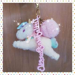 🛸🤺日本🇯🇵 正版 三麗鷗 🎀 獨角獸🦄 夢幻 吊飾 玩偶 白