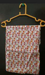 hijab square orange flower