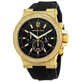 DYLAN BLACK DIAL LADIES CHRONOGRAPH WATCH MK8556