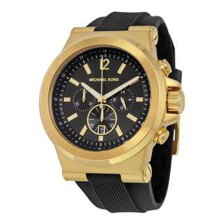 DYLAN BLACK DIAL MEN'S CHRONOGRAPH WATCH MK8445