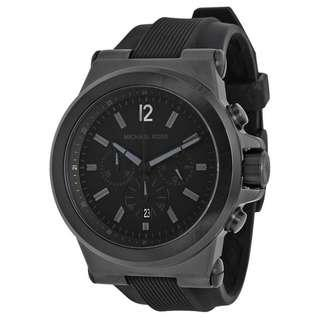 DYLAN BLACK SILICONE STRAP MEN'S WATCH MK8152