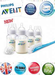 (FREE GIFT) + Philips Avent Classic+ PA Clear Newborn Starter Set