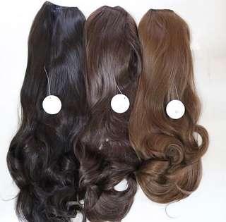 Black long hairclip