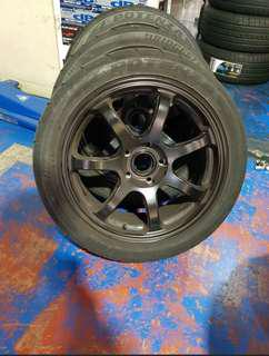 Used set of 17inch rim with tyres for sell or swap
