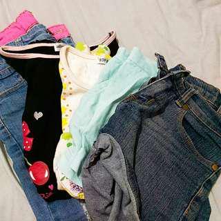 girls clothes bundle+free 2 shorts