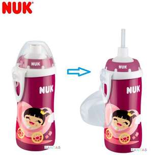 德國製造 NUK Flexi Cup 300ml 飲管杯 18 months+ NUK Germany - Flexi Cup with Soft Straw 300ml 18 months+